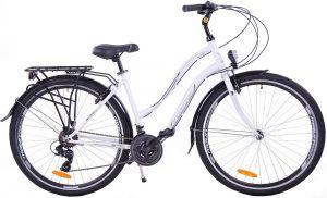 Trekkingový dámsky bicykel FUZLU hliníkový bielo/čierny